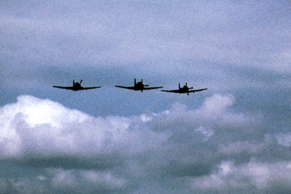 A-1s returning from a mission
