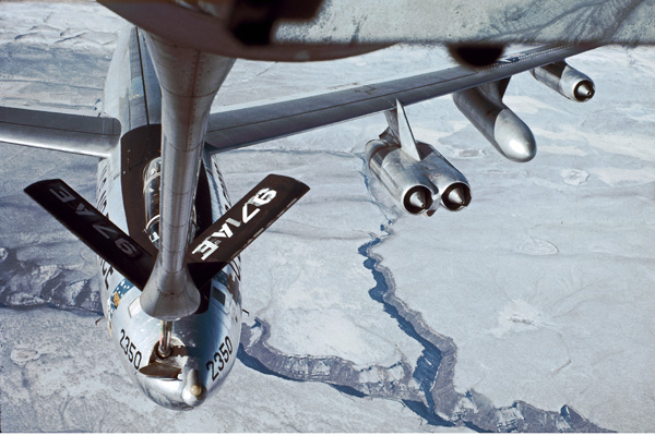 B-47 bomber re fueling with KC-135 #2
